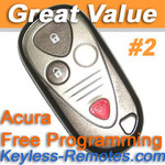 Acura MDX  Keyless Entry Remote Fob Memory #2 Refurbished