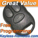 Oldsmobile Keyless Entry Remote Silhouette. Three Button Refurbished