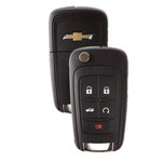 Chevrolet Flip Key Remote 5 Button w Remote Start