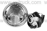 TAIL LIGHT ASSEMBLY BLACK WITH STAINLESS BEZEL CHEVROLET GMC TRUCK 1955 - 1959