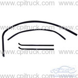 WINDOW CHANNEL KIT WITH FRAMELESS GLASS DIVISION BAR WINDOW WEATHER STRIPS AND CHANNEL CHEVROLET GMC TRUCK 1960 - 1963