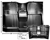 1964 - 1966 COMPLETE CAB FLOOR ASSEMBLY FULL CHEVROLET CHEVY GMC TRUCK