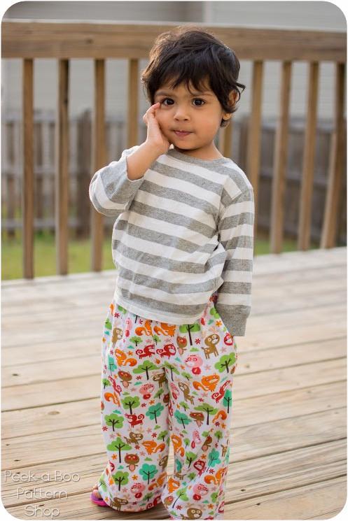 Pajama Party Pants Peek A Boo Pattern Shop