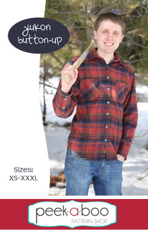 Yukon Button-Up shirt sewing pattern for men