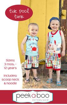 Tide Pool Tank sewing pattern