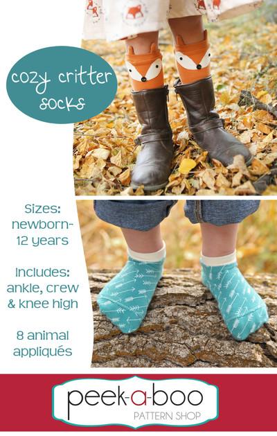 Cozy Critter Socks Sewing Pattern