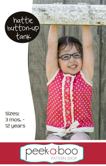 Hattie Button-Up Tank PDF Sewing Pattern