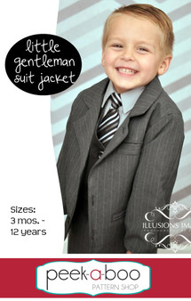 Little Gentleman Suit Jacket PDF Sewing Pattern
