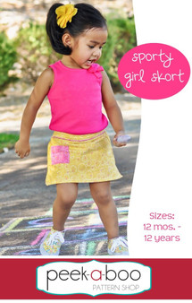 Sporty Girl Skort PDF Sewing Pattern