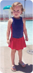Skirted Bottoms Paired with the Coco Cay Colorblock Tankini