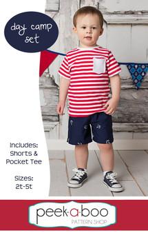 Day Camp Set: Free shorts pattern, Free t-shirt pattern