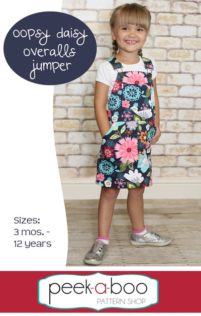 Oopsy Daisy Overalls Jumper Pdf Sewing Pattern