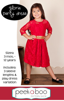 Gloria Party Dress Sewing Pattern