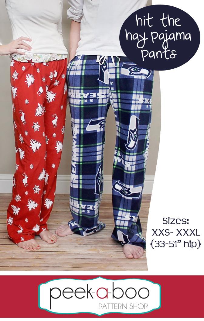 Hit The Hay Pajama Pants Sewing Pattern Peek A Boo