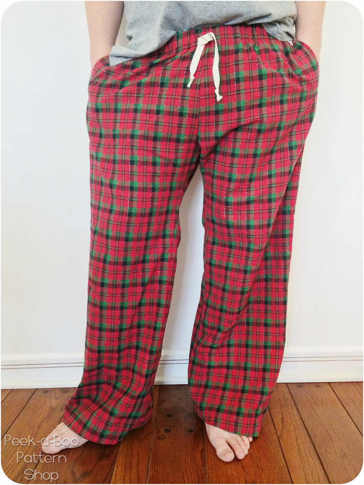 Hit The Hay Pajama Pants Sewing Pattern Peek A Boo