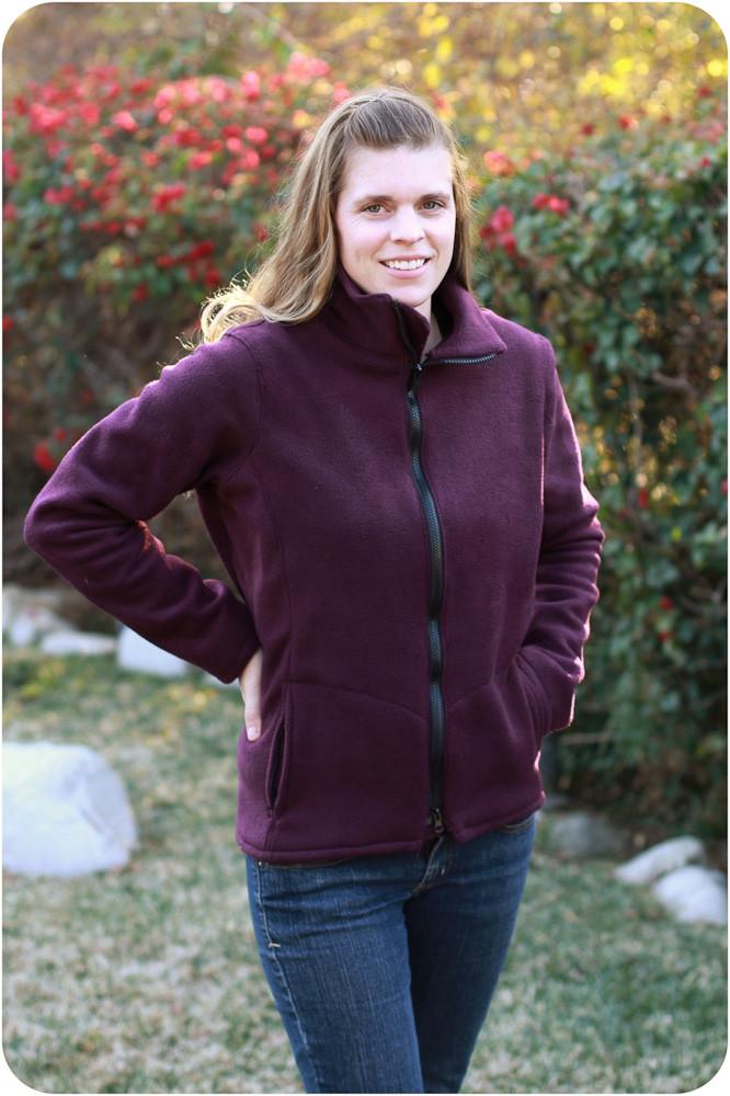 Cascade Fleece Jacket Sewing Pattern Peek A Boo Pattern Shop