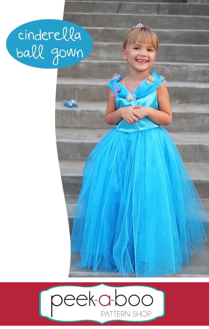 Toys For Big Boys >> Cinderella Ball Gown - Peek-a-Boo Pattern Shop