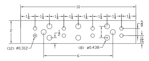 Bbtgb210t 10 tgb tinned copper ground bar no kit txm tgb bus bar diagramg ccuart Image collections