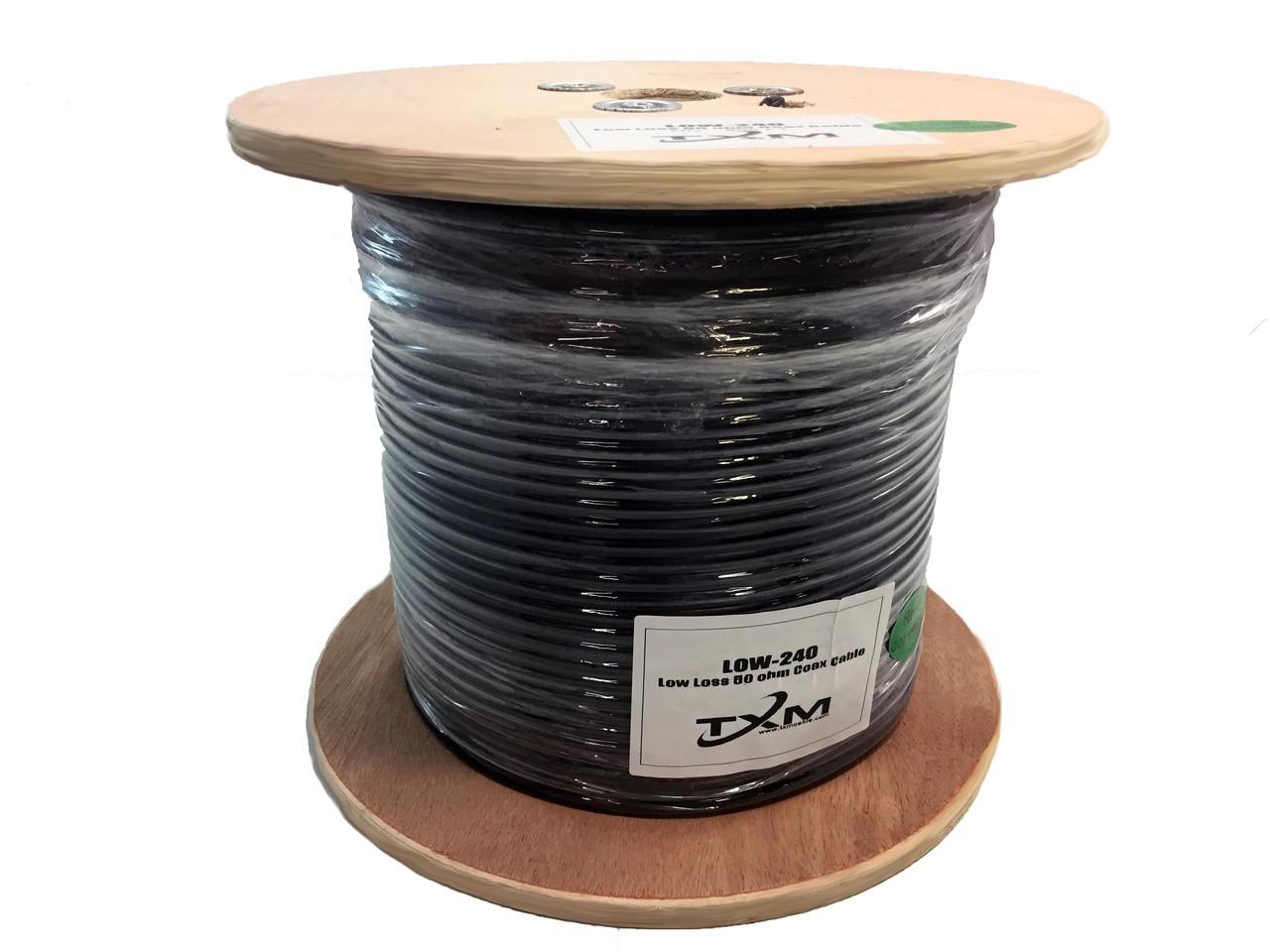 LMR-240 Type Low Loss Coax Cable 1000\' Reel - LOW240M - TXM ...