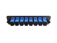 FP08PSMSCU1B Single-Mode SCU Simplex Black Adapter Panel (8-Pack)