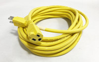 400131991 AT7637 TXM Brand Heavy Duty Yellow Outdoor Extension Cord 30', 14 AWG