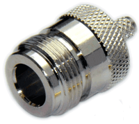 Type N Straight Female RF Coax for LMR400 / LMR400UF / LOW400 / RG8U / RG213 -  Crimp Connector with Solder Pin - NFL400CS