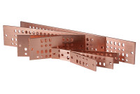 "Standard 2"" Solid Copper Bus Bars with Mounting/Grounding Hardware Kit"