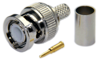 BNC Male Connector for  LMR195 / LOW195 / RG58 / RG142 / RG223 / RG400 cables - Crimp Connector with Solder Pin - BNCML195CS