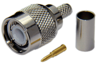 TNC Male Connector For RG8x/LMR240/LOW240 - Crimp Connector with Solder Pin - TNCML240CS