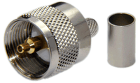 PL259 Male Straight Type Connector For  LMR195 / LOW195 / RG58 / RG142 / RG223 / RG400 - Crimp Connector with Solder Pin - PL259ML195CS