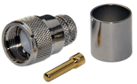 PL259 Male Straight Connector For LMR600/LOW600 cables - Crimp Connector with Solder Pin - PL259ML600CS
