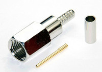 FME Male Connector for LMR240 / LMR240UF / LOW240 / RG8X - Crimp Connector with Solder Pin - FMEML240CS