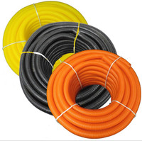 "Solid Corrugated Loom Tubing Polyethylene - 3/8"" - Various Colors"