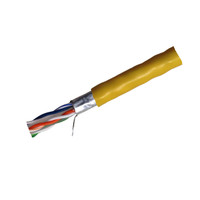 CAT6 STP CMR Solid Shielded Ethernet Cable 4PR/23AWG - 1000' - C6-STP-S-DR-4-23