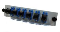 LCX 6 FIBER SCU SIMPLEX SM OS2 PUTTY Fiber Adapter Plate - FPT06PSMSCU1P