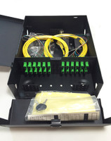 FPW0424SM2SCA13M Fiber Distribution Panel loaded with 24 OS2 SM SCA Simplex with Fiber Spool and 3M Pigtails