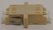 LC Duplex Beige Multimode Coupler with flange - FCLCULCUMMBGFF2MF