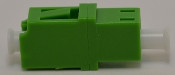 LC/APC Duplex Green Singlemode Coupler w/o flange - FCLCULCUSMGNFF2CXH