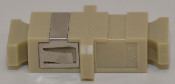 SC Simplex Beige Multimode Coupler with flange - FCSCUSCUMMBGFF1MF