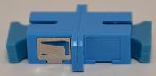 SC Simplex Blue Singlemode Coupler with flange - FCSCUSCUSMBLFF1MF