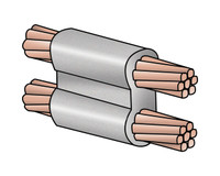 Exothermic Molds - 2 AWG SOLID TO 2 AWG SOLID PARALLEL CONNECTION