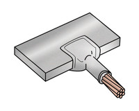 "Exothermic Molds - 2 AWG SOLID TO 1/4"" THICK BUS BAR CONNECTION - EWM2AS14BB"