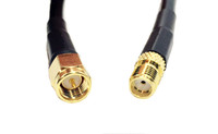 LMR®-195 Type SMA Male to SMA Female 80ft Low Loss Coax Cable Jumper- L195-SMAF-SMAM-80F