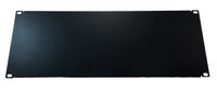 "4 RU Blank Rackmount Panel - Blank Solid Black Panel 7"" x 19"" (BLANK-PNL-4RU-19BK )"