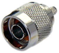Type N Male Connector RG8x/LMR240/LMR240UF/LOW240 - Crimp Connector with Captivated Pin - NML240C