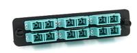 FP06PMMSCGU2B Multi-Mode 10G SCU Duplex Black Adapter Plate 12 fiber