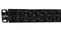 "CAT6A 32-Port High Density Patch Panel 1 Rack Unit 19"" Unshielded Feed Through - PPC6A32U1RUR19"