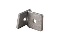 "Galvanized Steel Square Washer, 1-5/8″ with 3/8″ Center Hole for 1-5/8"" Strut - Kit of 100"
