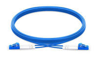 LC UPC to LC UPC Duplex Single Mode Armored PVC (OFNR) Patch Cable