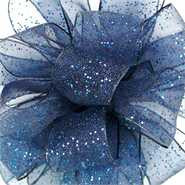 #3 Navy flash wired corsage ri